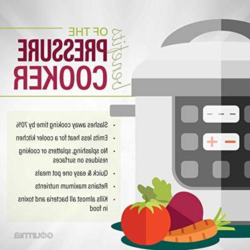 Gourmia Multi-Mode SmartPot | Cook Modes | Removable | Keep Pressure Sensor Lid | Recipe