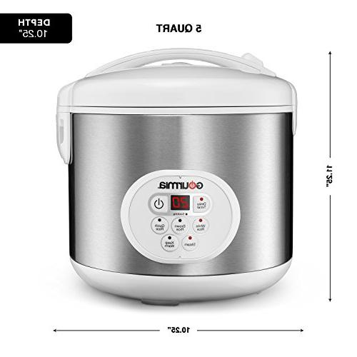 Gourmia For and Hot Cereal Steam - Display - Keep Timer - 650W Stainless Steel Cookbook
