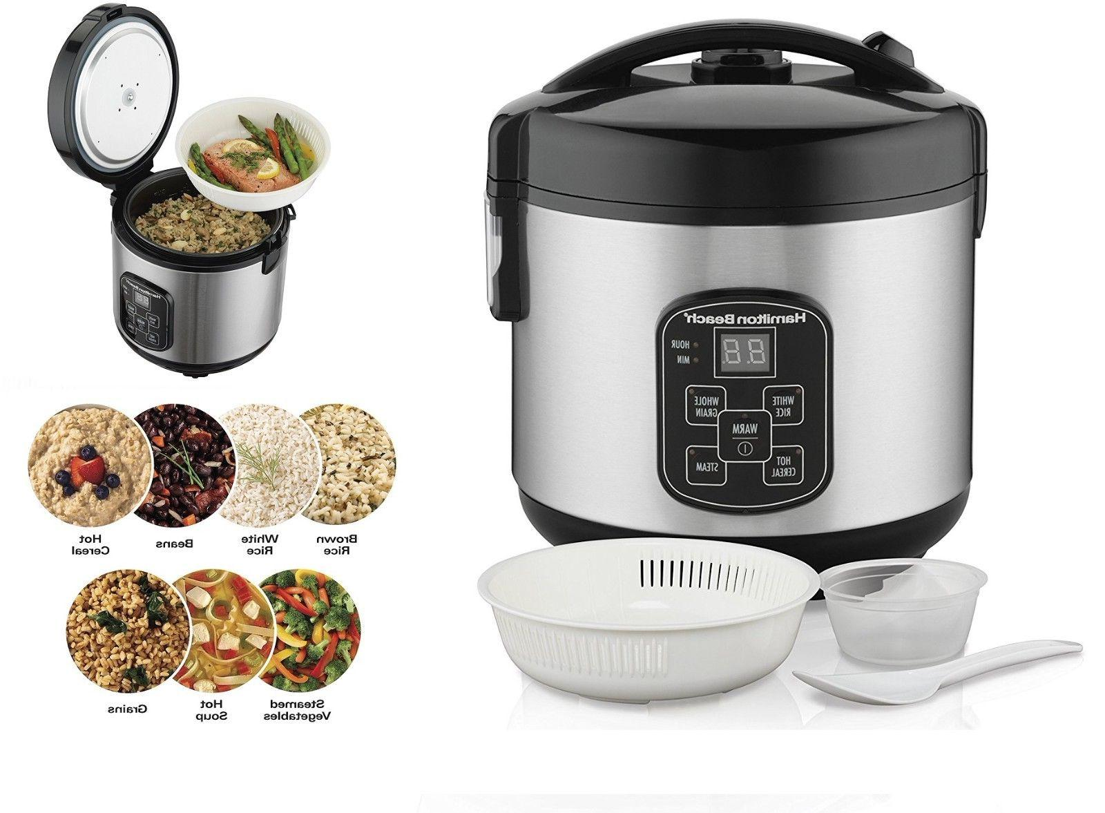 Healthy cooking Rice Cooker and Food Steamer, 4-Cup Uncooked