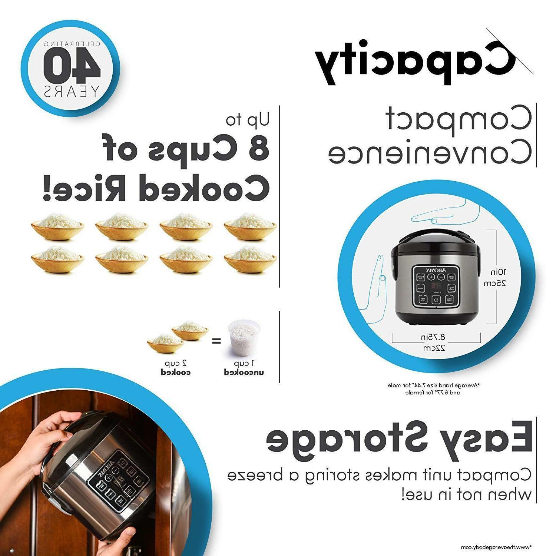 Aroma Housewares ARC-914SBD 2-8-Cups Digital