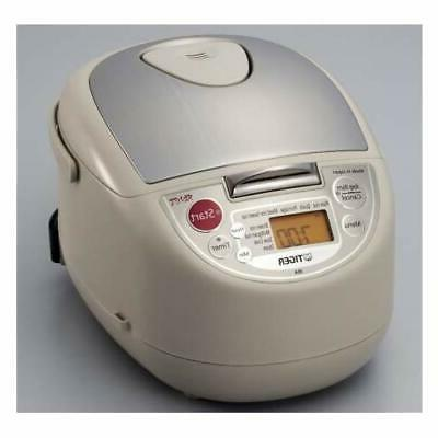 TIGER JBA-T18W Rice Cooker 10 Cup 220V Beige Free Ship w/Tra