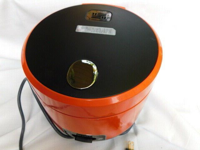 juicy orange color rice cooker pot electric