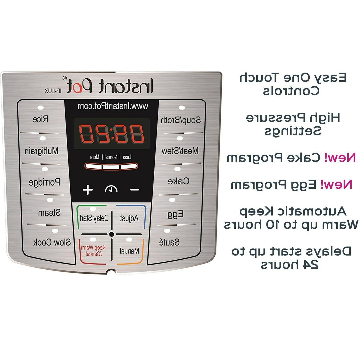 Instant LUX60, Qt 6-in-1 Multi- Programmable Pressure Cooker