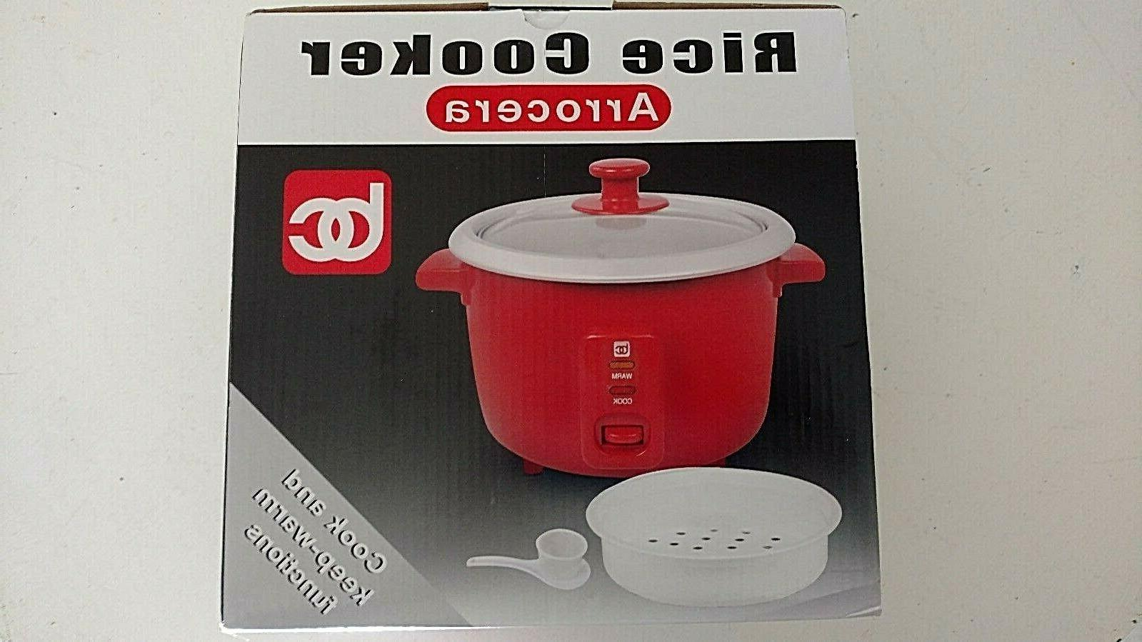 MBR Industries BC Rice Cooker with Steam Tray, Measuring Cup