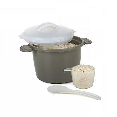 Microwave 6 Cups Rice Cooker with Locking Lid Rice Paddle Me
