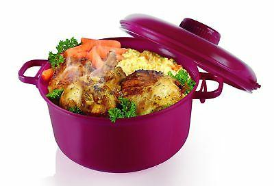 Microwave Pressure Cooker - Microwave Rice Cooker - Burgundy