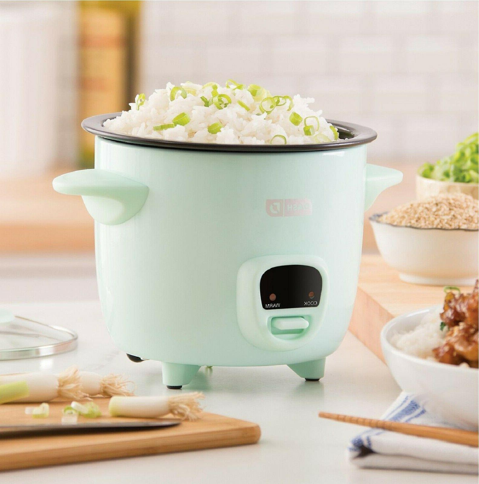 Dash 2-Cup Cooker with Keep Warm Function - Aqua