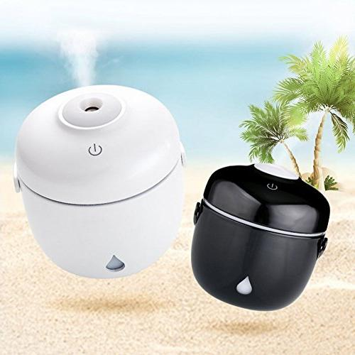 Mini Cute Rice Shape USB Humidifier Cool Mist Ultrasonic Desk Air Purifier LED Light For Home Office Baby Toilet Water Hours Work
