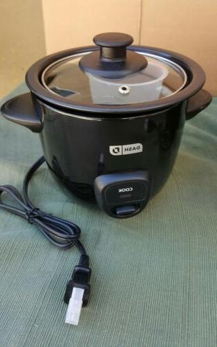 DASH  MINI RICE COOKER DRCM100BK BLACK COLOR