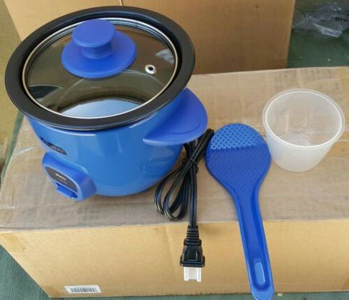 mini rice cooker drcm100bu blue color