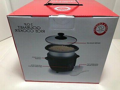 New 3 Cup Gourmet Rice Cooker