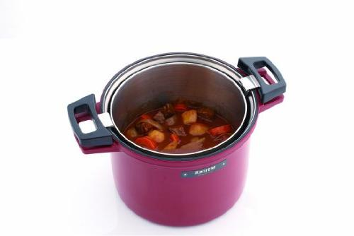 TIGER Non-Electric Thermal Slow Cooker / 4.5L, Red