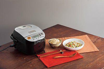 Zojirushi Micom Rice Cooker Warmer, Silver Black