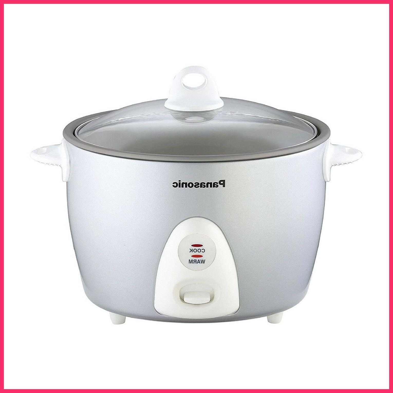 Panasonic Automatic 10-Cup Rice Cooker, Silver