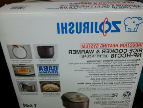 np hcc18xh induction heating system rice cooker