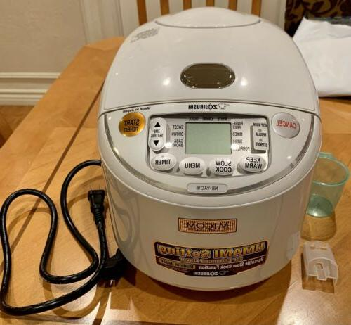 Zojirushi NS-YAC18 Umami Micom 10-Cup Uncooked Rice Cooker a