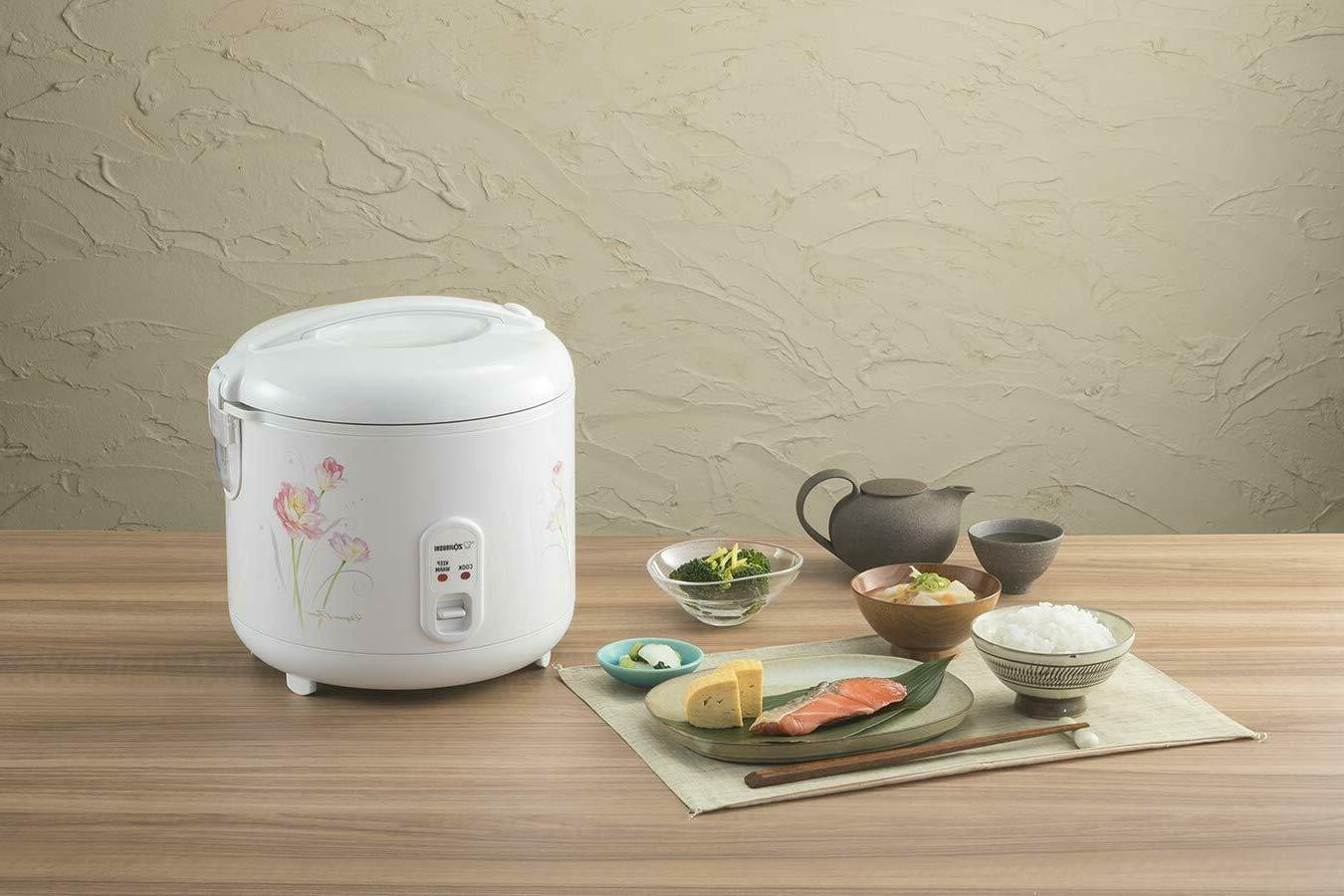 Zojirushi NS-RPC10FJ Rice and Warmer, 1.0-Liter, Tulip NEW CUP