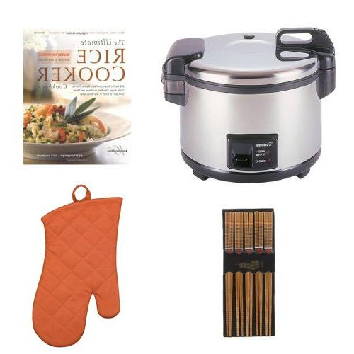 Zojirushi 20-Cup Commercial Rice Cooker & Cookbook Bundle