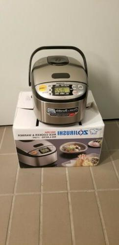 Open box Zojirushi  3 Cup Rice Cooker  And Warmer NS - LACO5