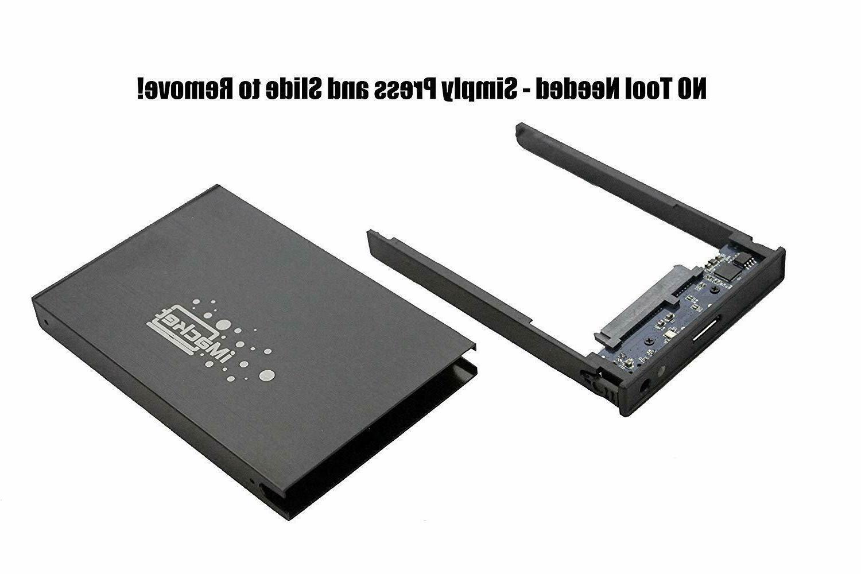 """2.5"""" SATA External USB Enclosure HDD Durable Aluminum Case"""