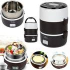 Portable 3 Layers Electric Lunch Box Steamer Pot Rice Cooker