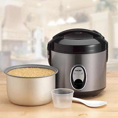Aroma Pot-Style Rice Cooker and Silver ea