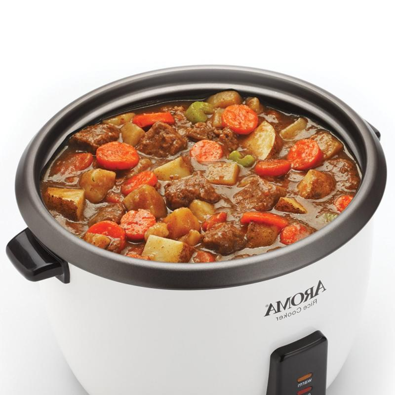 Aroma 32-Cup Pot Style Rice Cooker, White