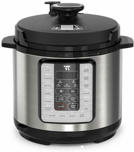 10-in-1 6 Qt Programmable Electric Pressure Cooker Rice Cook