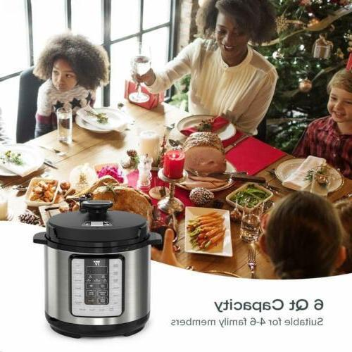 Pot Electric Pressure Cooker Cookbook 10 in 1 rice cooker 6q