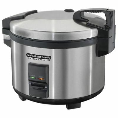 Proctor Silex 40 Cup Brushed Stainless Steel Rice Cooker / W