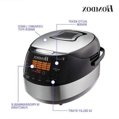 Programmable Electric Rice Stainless Steel Automatic Slow Warm