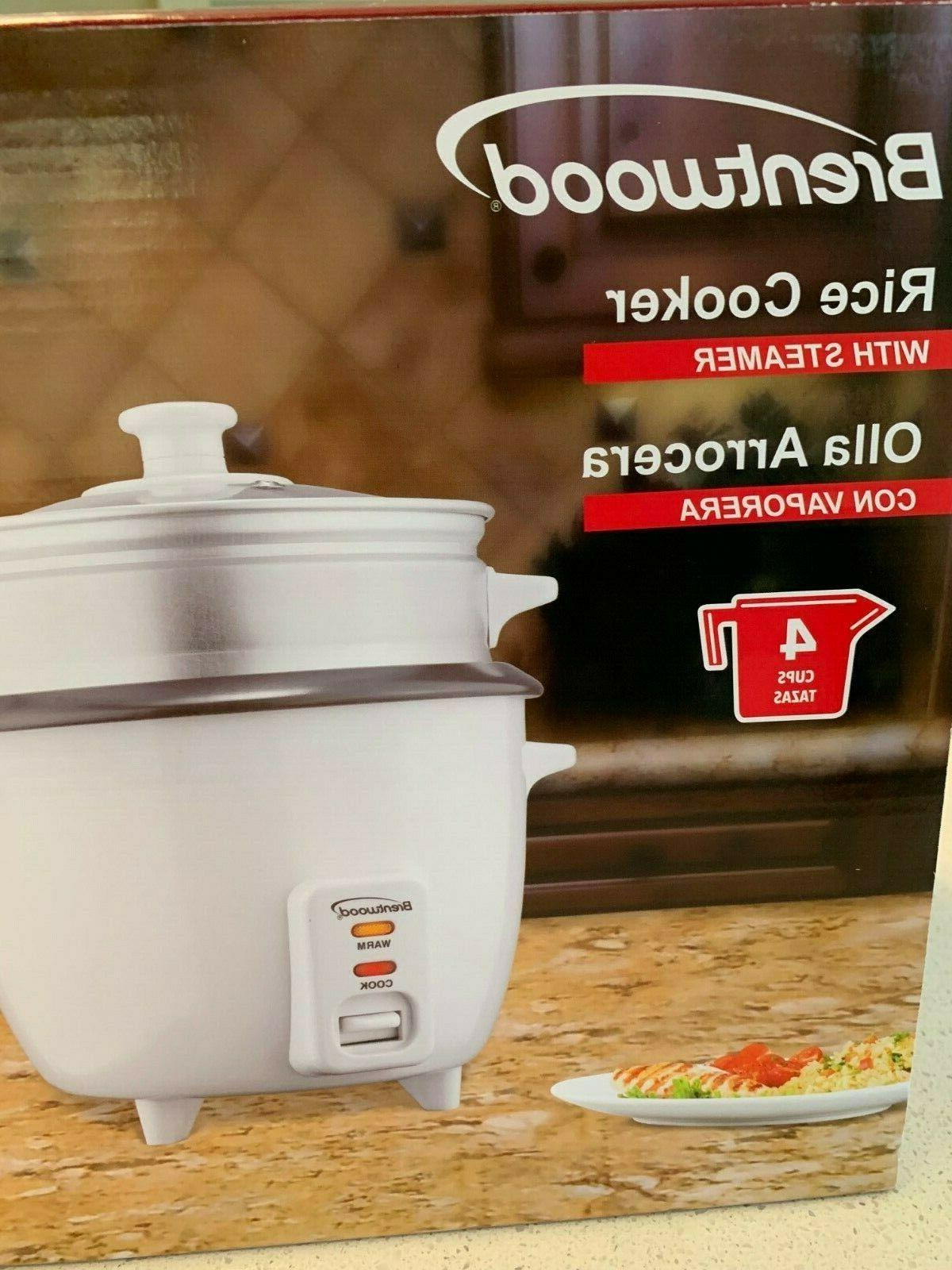 Rice Cooker Non-Stick Pot Cooker w/ White