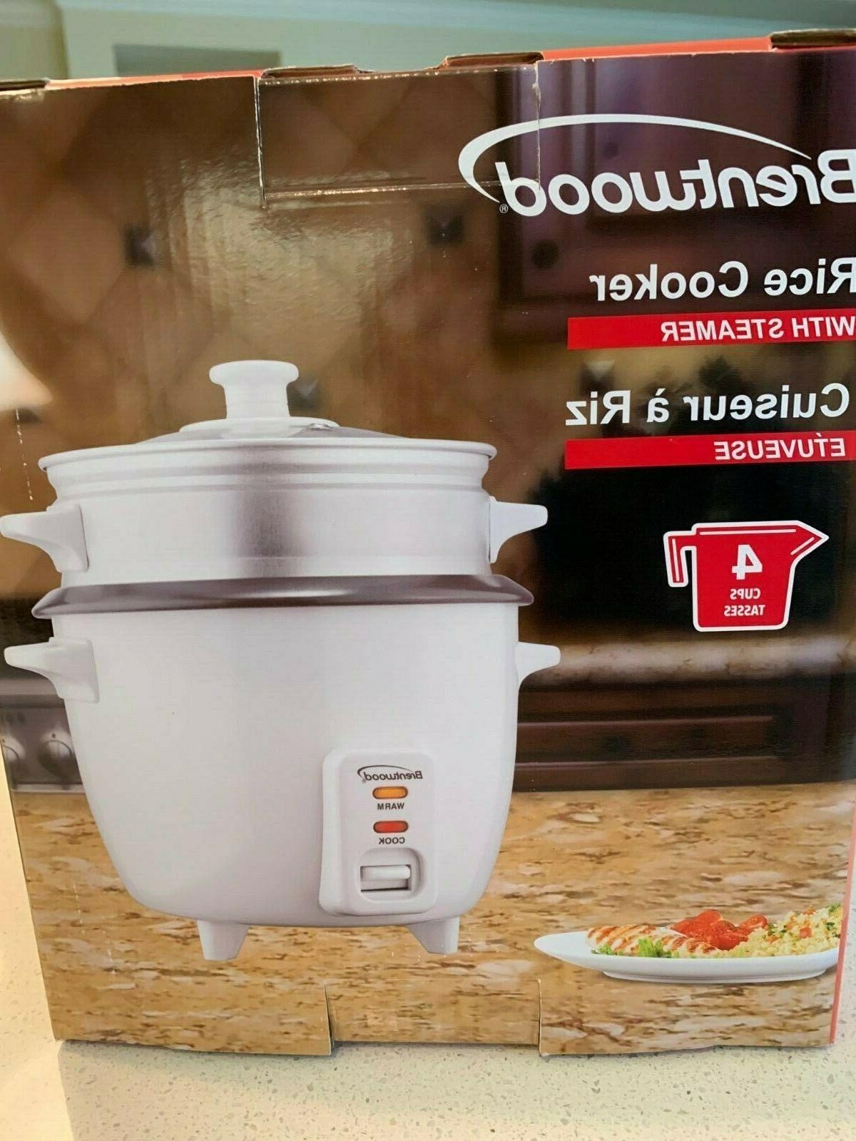 Rice Brentwood Non-Stick Cooker Steamer White