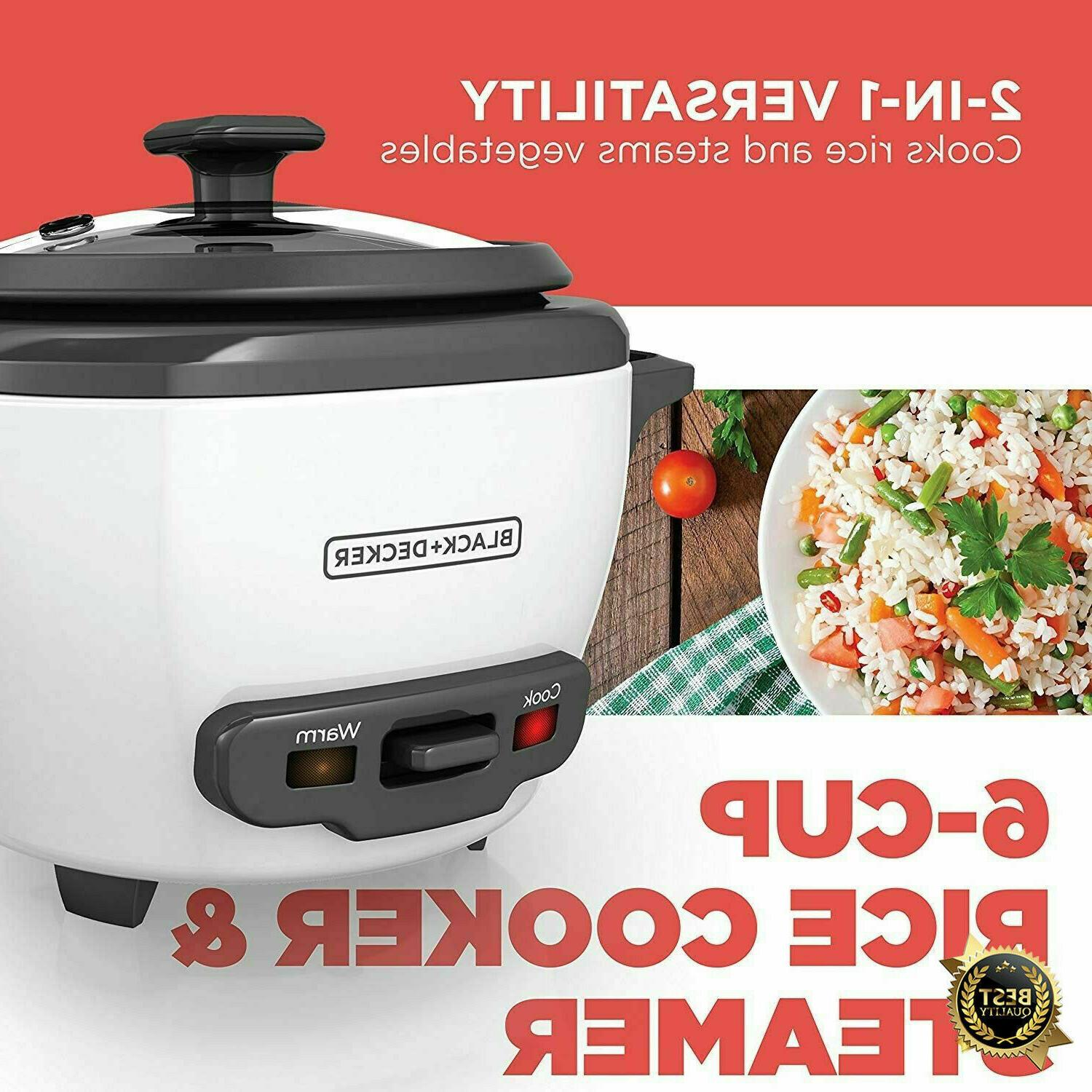 Rice Cooker 6 Cup Food Steamer Bowl