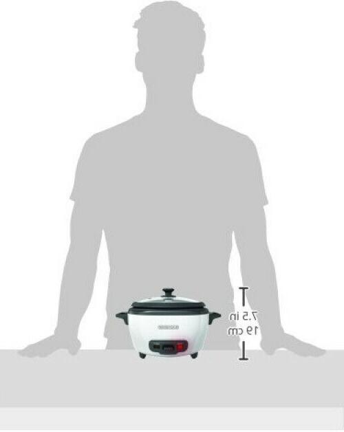 Rice Food Steamer Black Warmer Pot Cup