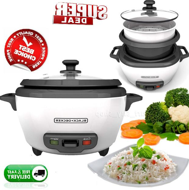 Rice Cooker And Food Steamer Broccoli Steam Cooking Pot 6 CU