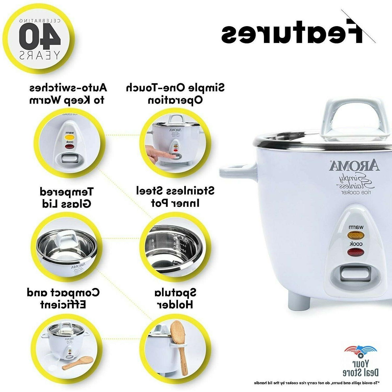 Rice Cooker Soup Cooking Pot Stainless 3-Cup