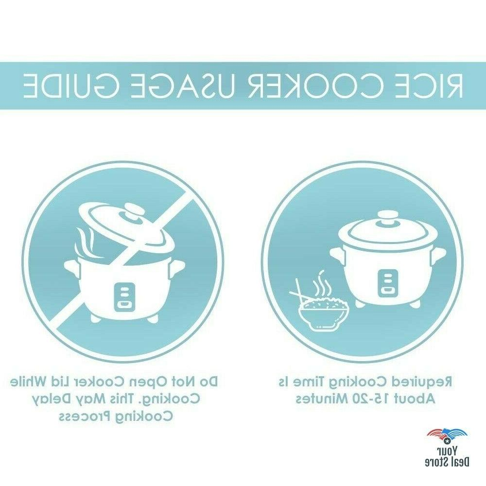 Rice Soup Cooking Stainless 3-Cup Uncooked Cooked