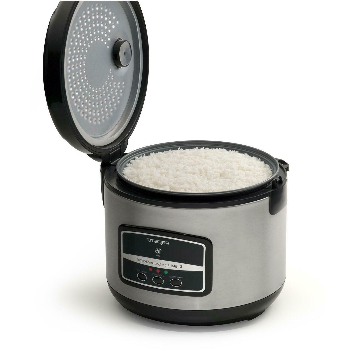 rice cooker steamer 16cup stainless steel rice