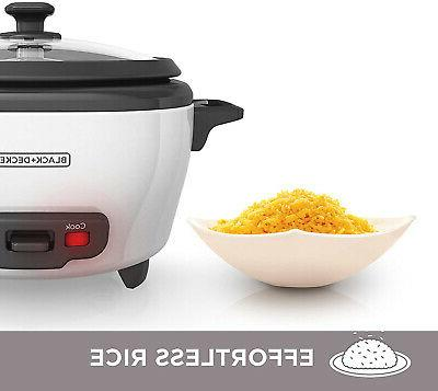 Rice Cooker Steamer 6-Cup Cooked Warm Kitchen Appliances Chef