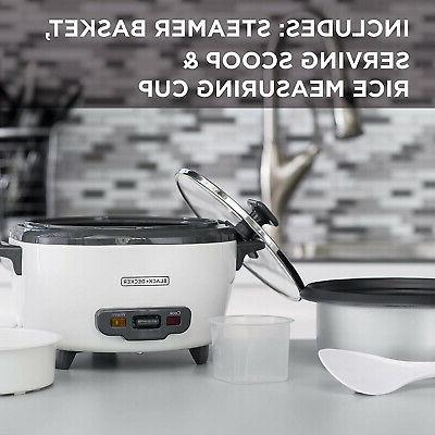 Rice Food Steamer 6-Cup Cooked Warm Kitchen Chef