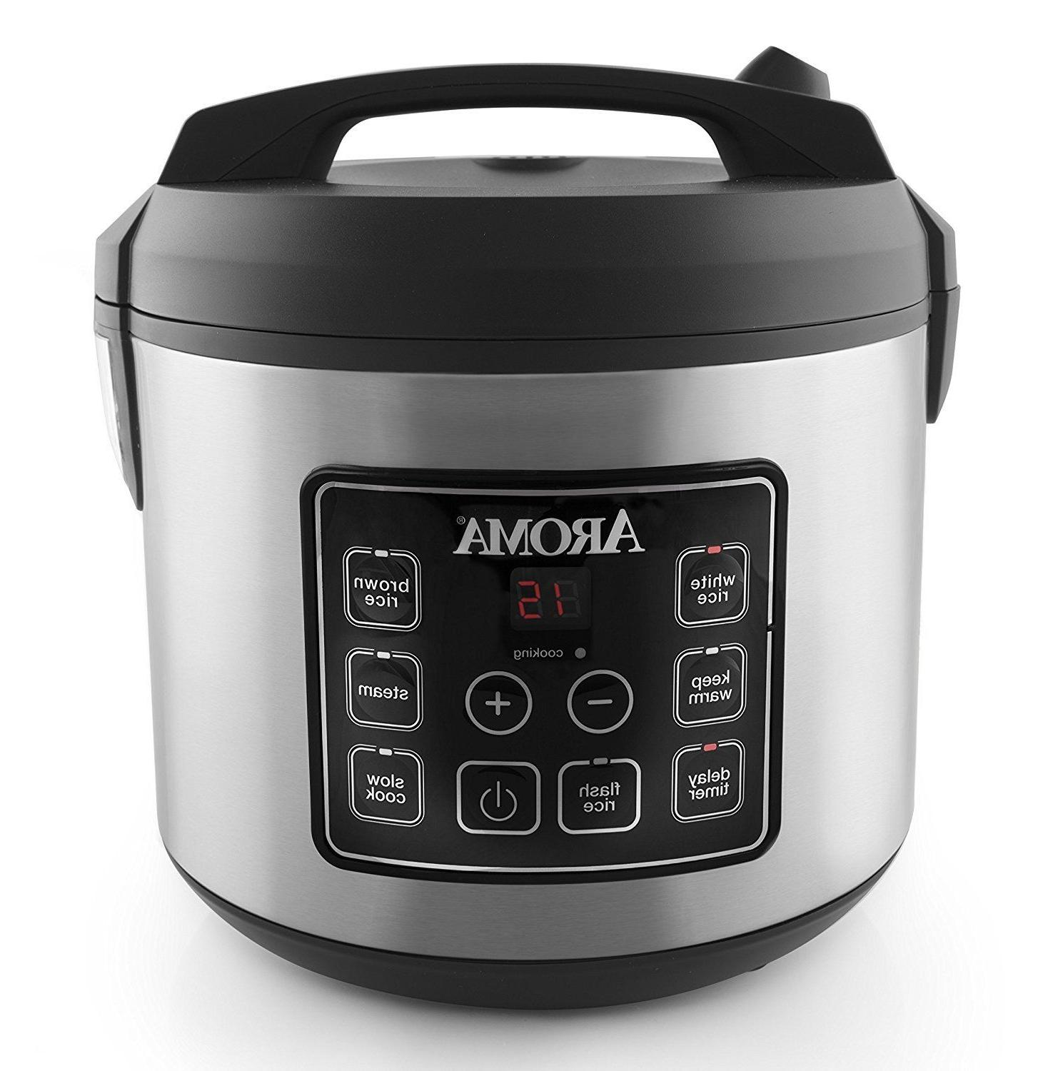 Rice Cooker Steamer Kitchen Food Digital Slow Dining Nonstic
