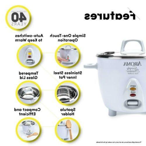 Aroma Housewares Simply 14-Cup White