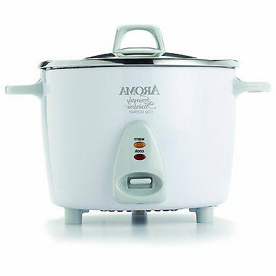 Aroma Simply Stainless 14-Cup  Electric Rice Cooker, White A