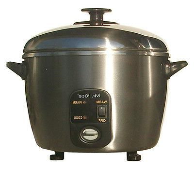 SPT 6-Cup Rice Cooker, Silver/Stainless New