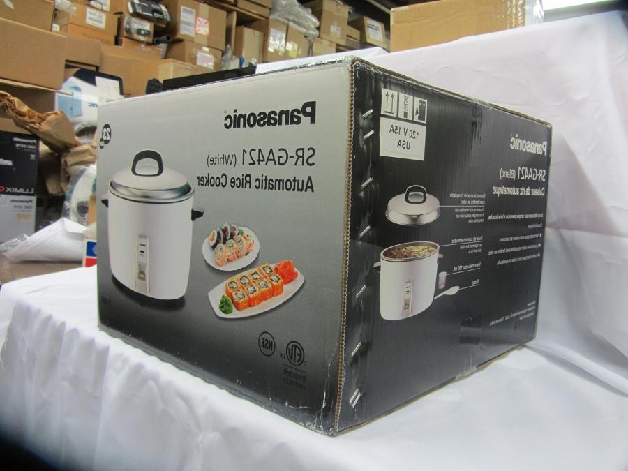 Panasonic SR-GA421 23 Commercial Rice Cooker White Brand New