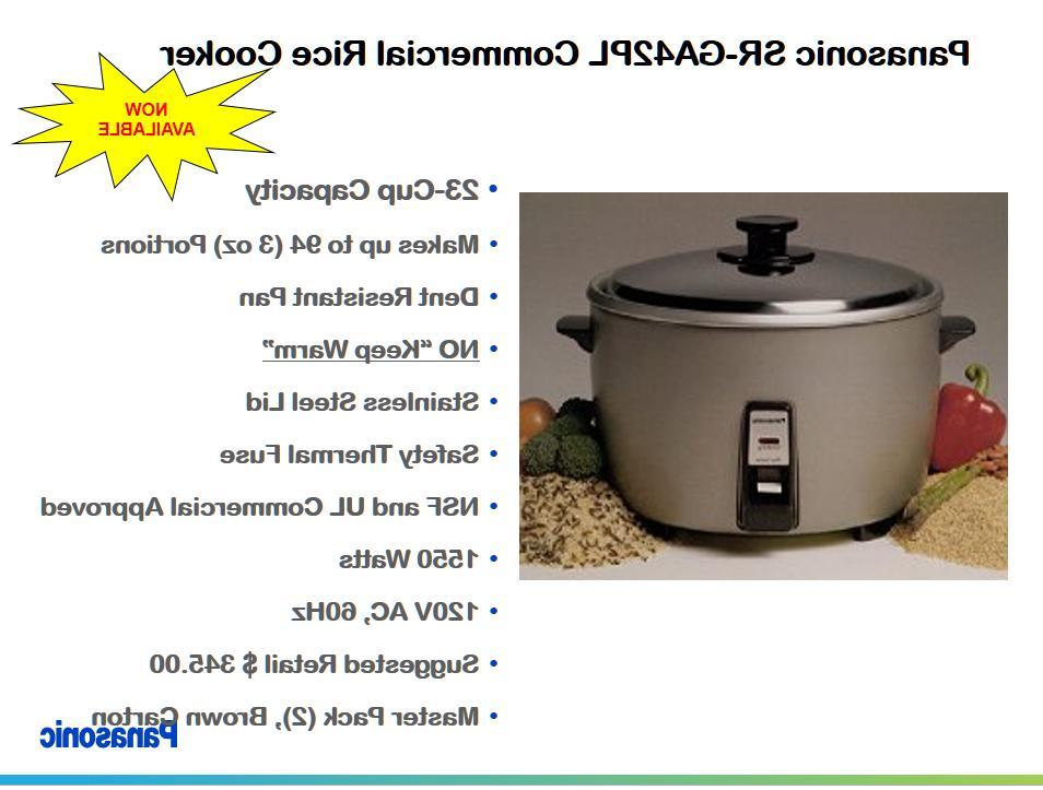 Panasonic SR-GA421 23 Commercial Rice White Brand