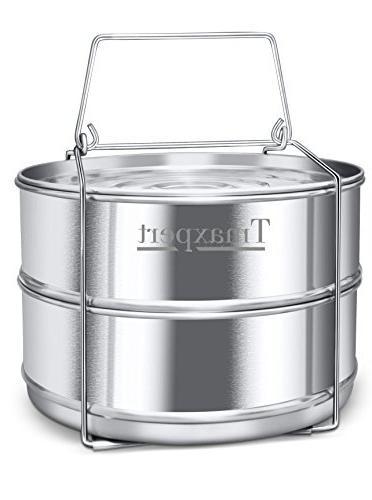 Maxrock Stackable Stainless Steel Pressure Cooker Steamer