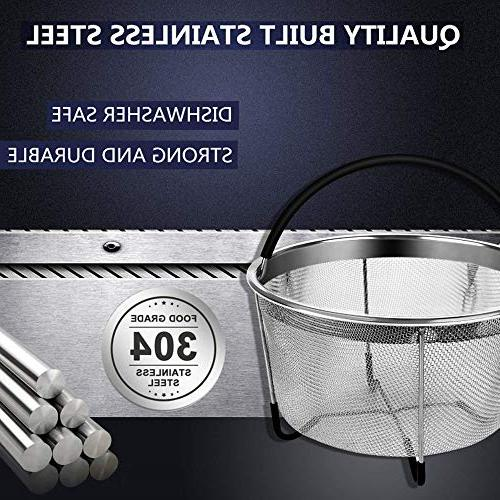 Nice-Components Steamer Basket Qt 8 Instant Pot Diswashing Sponge,Free times Tag