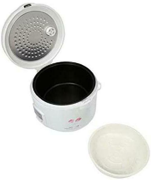 Tayama Cool Touch Rice with Steam Basket, White